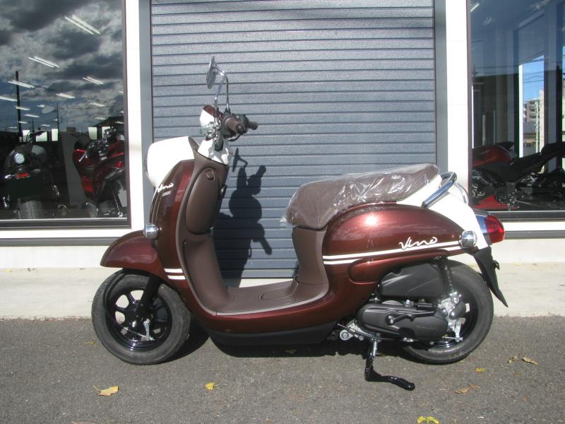 新車バイク ヤマハ ビーノ(VINO) ブラウン ひだり側