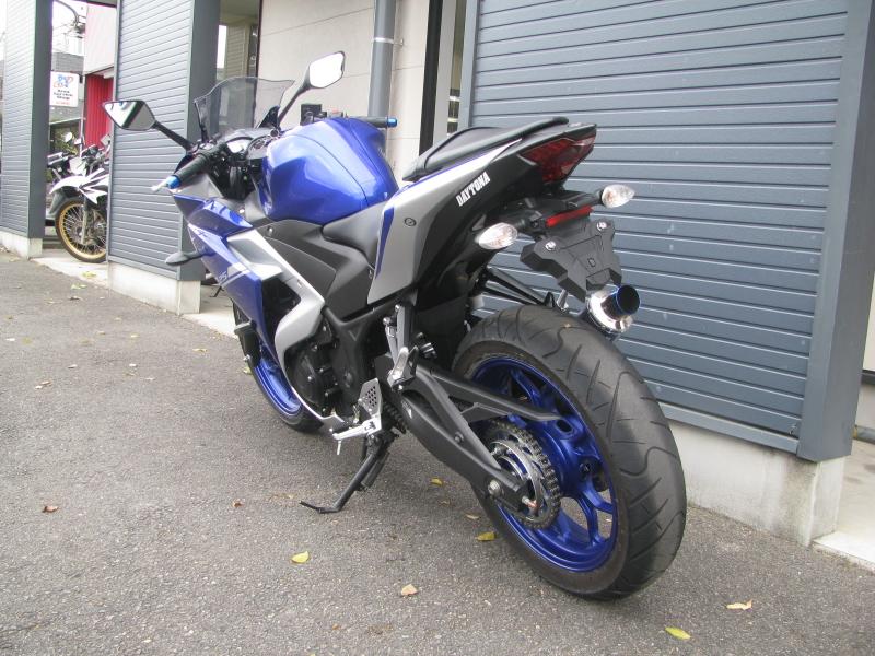 中古車バイク ヤマハ YZF-R25 ABS ブルー/シルバー 後ろ側