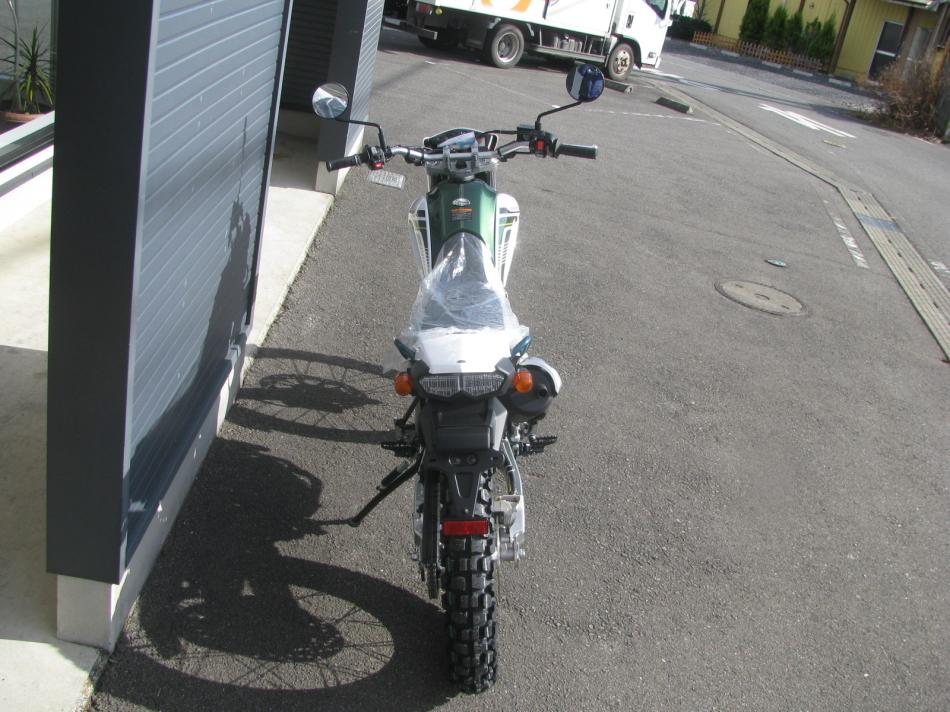 ヤマハ セロー250 ファイナル グリーン 上からの写真