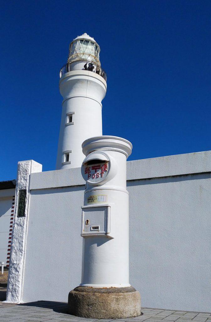 ツーリング 犬吠埼灯台 白いポストと灯台