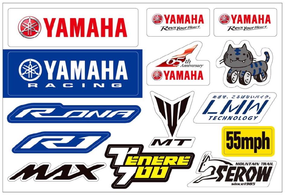 モーターサイクルショー YAMAHA ステッカー プレゼントキャンペーン ステッカーイメージ画像