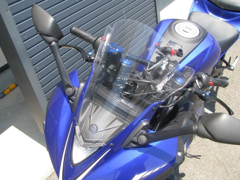 中古車 ヤマハ YZF-R25 ブルー(青) ウィンドスクリーン