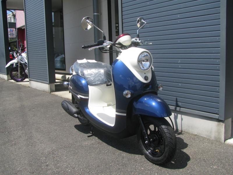 新車 ヤマハ ビーノ(VINO) ブルー 右まえ側