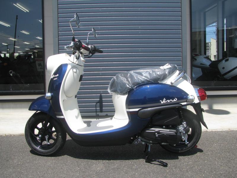 新車 ヤマハ ビーノ(VINO) ブルー ひだり側