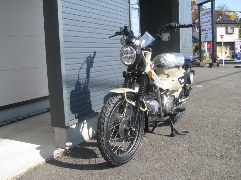 新車バイク ホンダ ハンターカブ(CT125) ブラウン 左まえ側