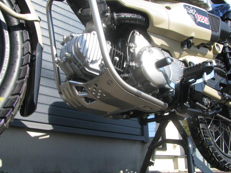 新車バイク ホンダ ハンターカブ(CT125) ブラウン エンジンガード