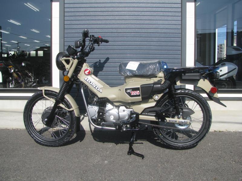 新車バイク ホンダ ハンターカブ(CT125) ブラウン ひだり側