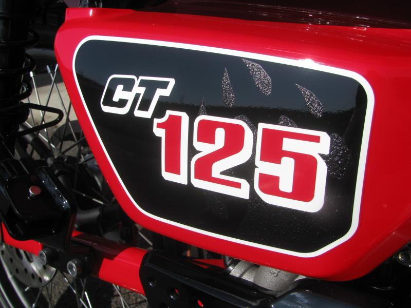 新車バイク ホンダ ハンターカブ(CT125) レッド CT125エンブレム