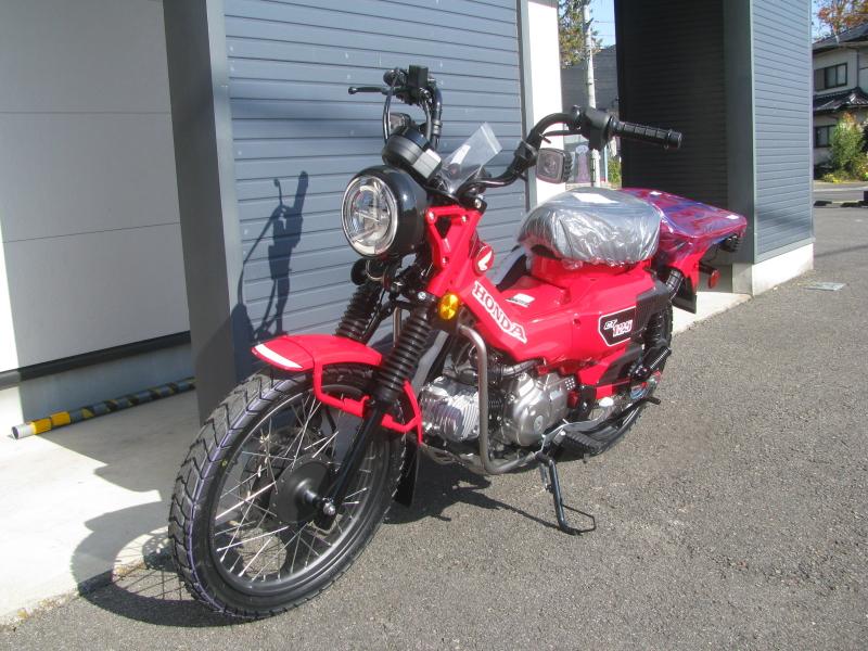 新車バイク ホンダ ハンターカブ(CT125) レッド 左まえ側