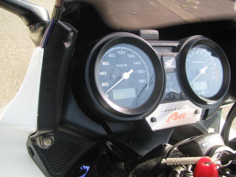 中古車バイク ホンダ CB400SB(スーパーボルドール) ブルー/ホワイト ETCランプとアンテナ