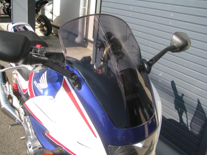中古車バイク ホンダ CB400SB(スーパーボルドール) ブルー/ホワイト ウィンドスクリーン