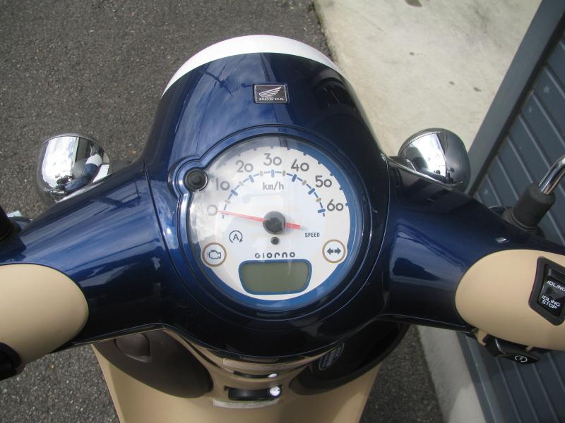 中古車バイク ホンダ ジョルノ(GIORNO) ブルー メーターパネル