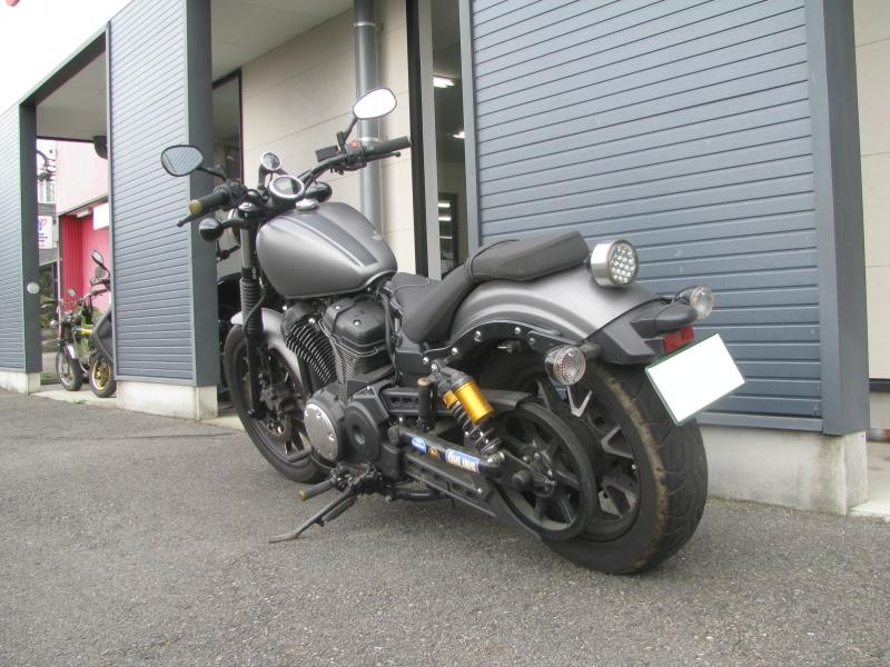 中古車バイク ヤマハ BOLT-R(ボルト Rスペック) マットグレー 左後ろ側