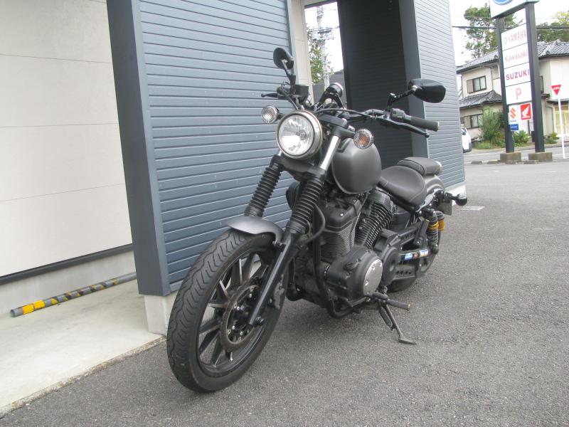 中古車バイク ヤマハ BOLT-R(ボルト Rスペック) マットグレー 左まえ側