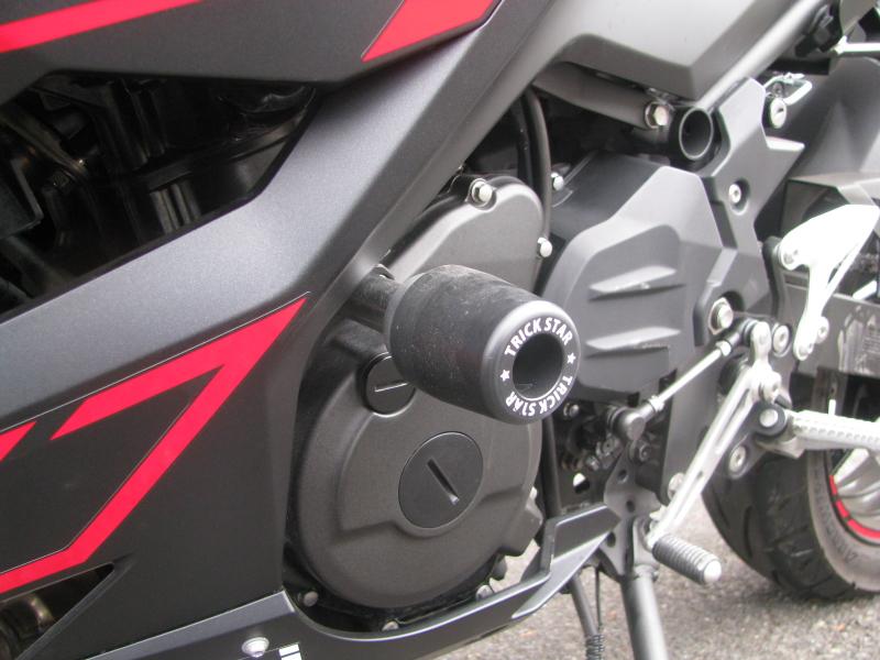 中古車バイク カワサキ Ninja250 レッド/ブラック フレームスライダー