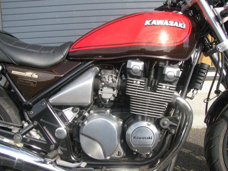 中古車バイク カワサキ ゼファーΧ(ゼファーカイ) ブラウン/オレンジ エンジン