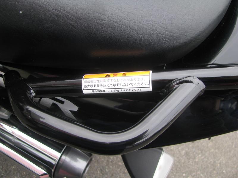 中古車バイク スズキ GSR250 ブラック リアキャリア積載量