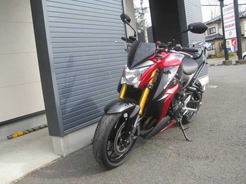 中古車バイク スズキ GSX-S1000 ABS レッド/ブラック 左まえ側