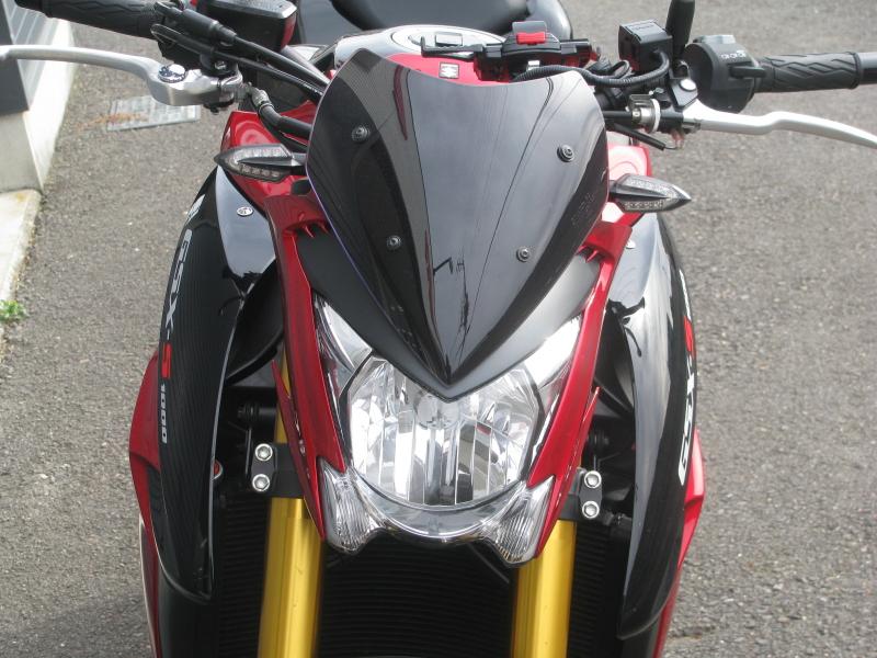 中古車バイク スズキ GSX-S1000 ABS レッド/ブラック メーターバイザー LEDウィンカー