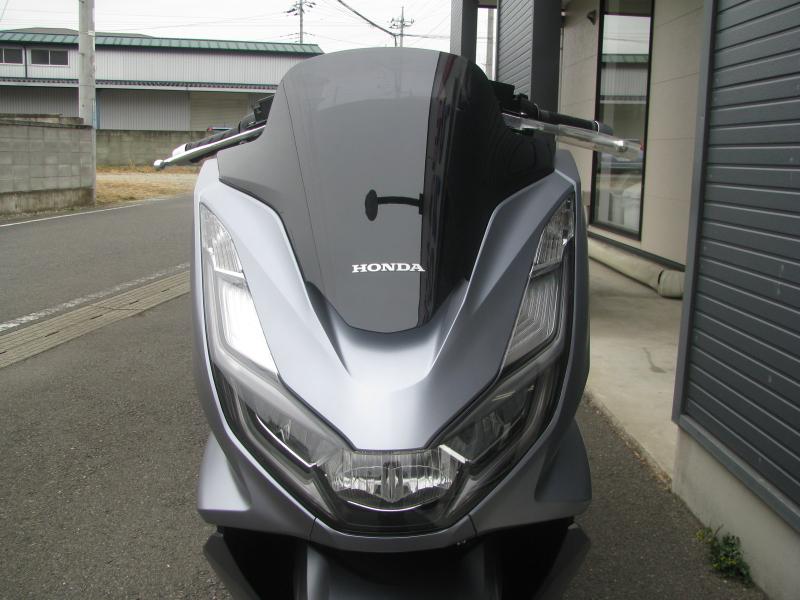 新車バイク ホンダ PCX125 マットシルバー フロントパネルトヘッドライト