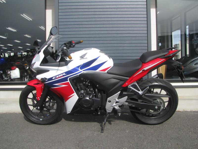 中古車バイク ホンダ CBR400R ABS トリコロールカラー ひだり側