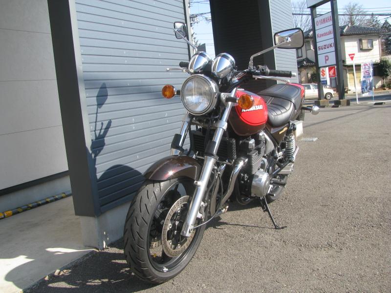 中古車バイク カワサキ ゼファーΧ(ゼファーカイ) ファイナルエディション ブラウン/オレンジ 火の玉カラー 左まえ側