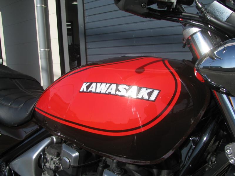 中古車バイク カワサキ ゼファーΧ(ゼファーカイ) ファイナルエディション ブラウン/オレンジ 火の玉カラー ガソリンタンク