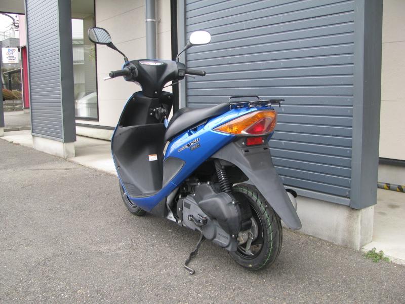 中古車バイク スズキ アドレスV50 ブルー 左うしろ側
