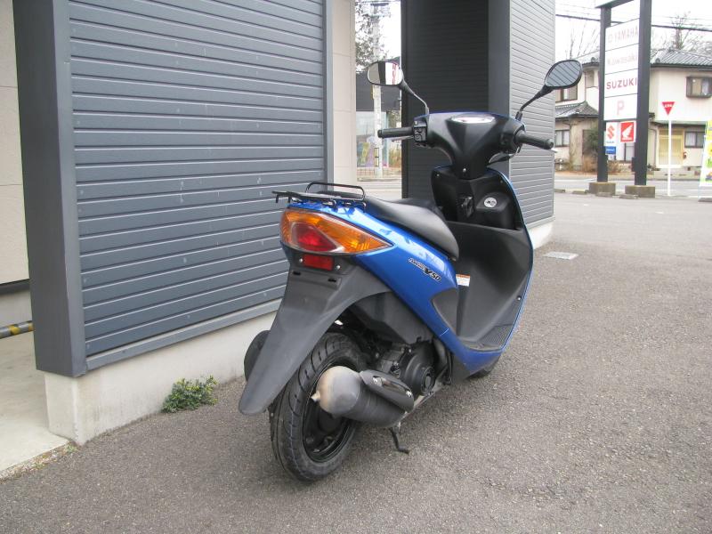 中古車バイク スズキ アドレスV50 ブルー 右うしろ側