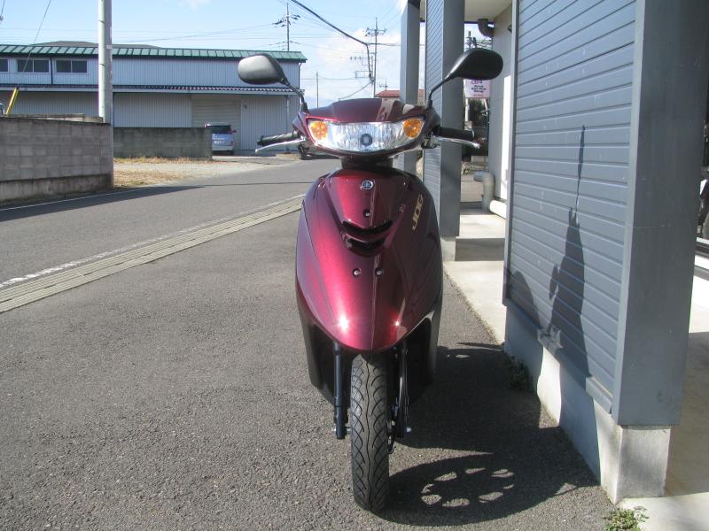 新車バイク ヤマハ JOG(ジョグ) レッド まえ側