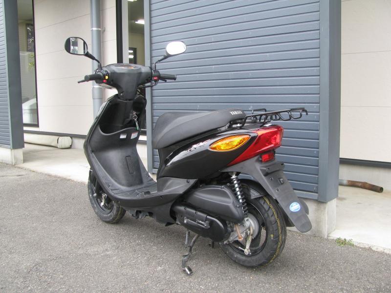 中古車バイク ヤマハ JOG ブラック 左後ろ側