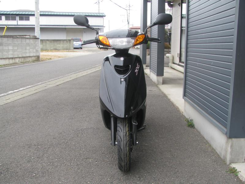 中古車バイク ヤマハ JOG ブラック まえ側
