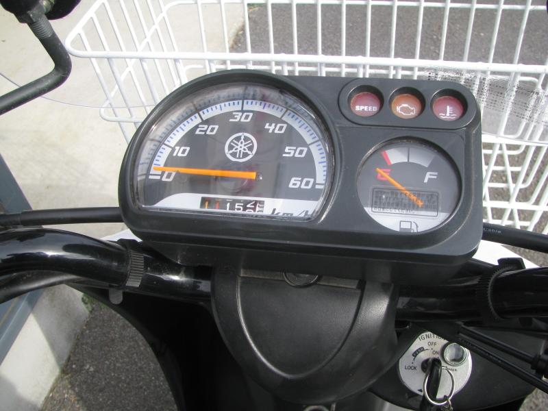 中古車 ヤマハ ギア(GEAR) ホワイト スピードメーターパネル