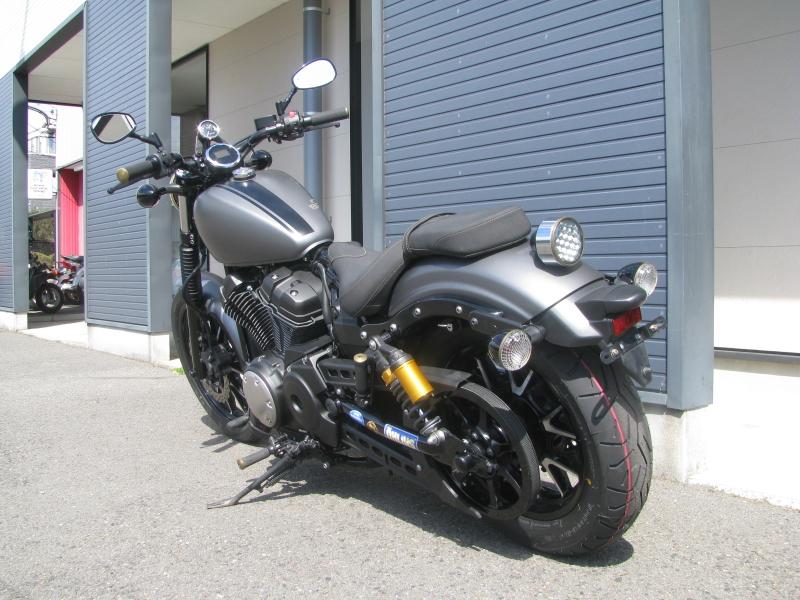 中古バイク ヤマハ BOLT-R(ボルト Rスペック)マットグレイ 左うしろ側