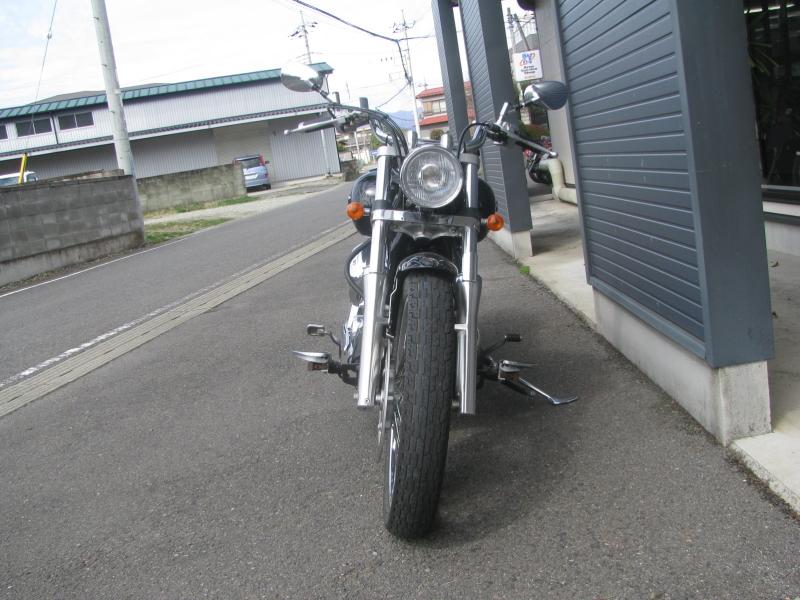 中古車バイク ヤマハ ドラッグスター400 (DS4) ブラック まえ側