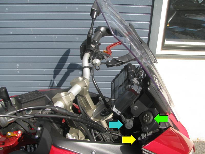 中古車 ヤマハ MT-09 TRACER ABS(トレーサーABS) レッド フロント周り右側説明用