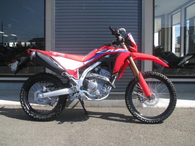 新車バイク ホンダ CRF250L レッド 2021年モデル みぎ側