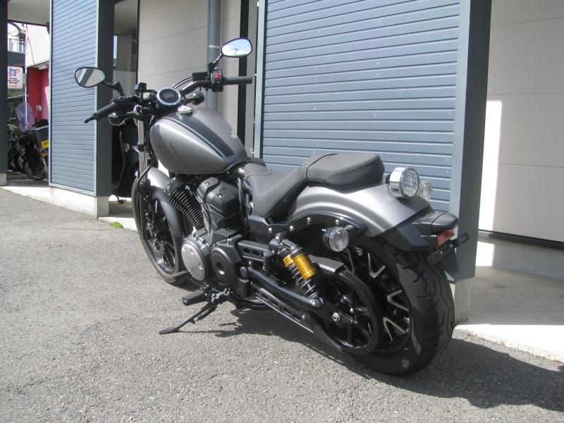 中古バイク ヤマハ BOLT-R (ボルト Rスペック) マットグレイ 左うしろ側