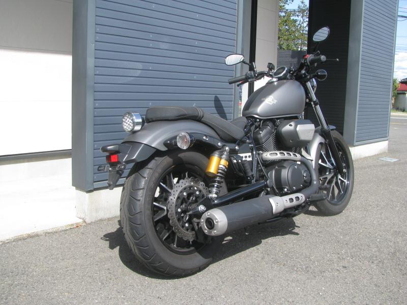 中古バイク ヤマハ BOLT-R (ボルト Rスペック) マットグレイ 右うしろ側