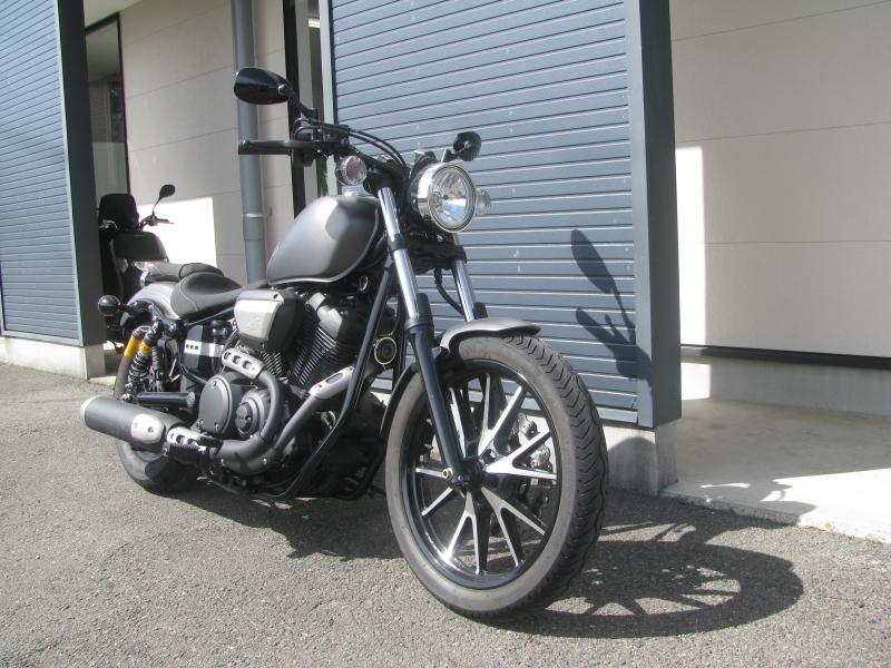 中古バイク ヤマハ BOLT-R (ボルト Rスペック) マットグレイ 右まえ側