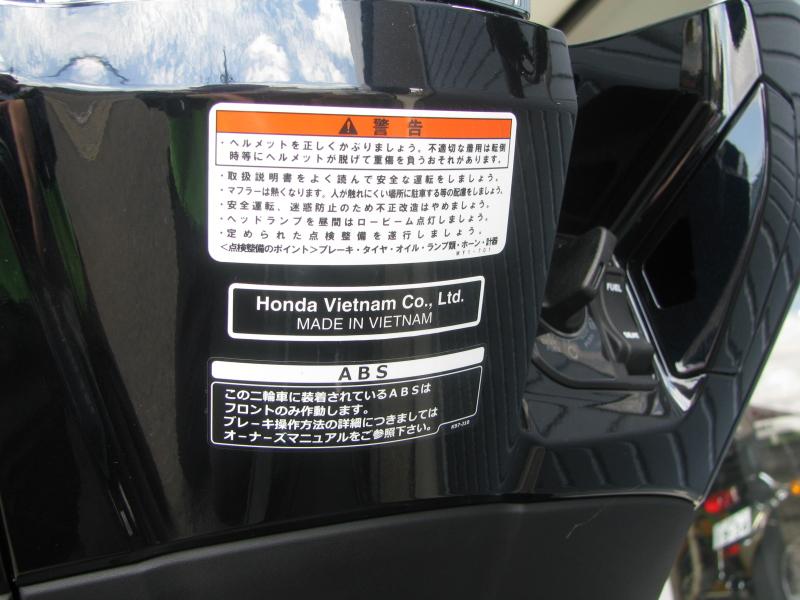 新車バイク ホンダ PCX125ABS ブラック コーションラベル