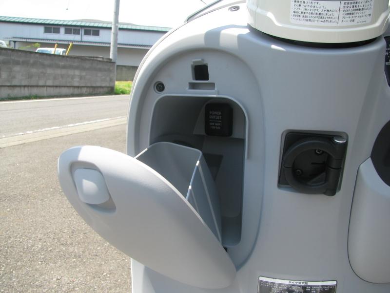 新車情報 ヤマハ ビーノ(Vino) ライトブルー フロントポケット左側