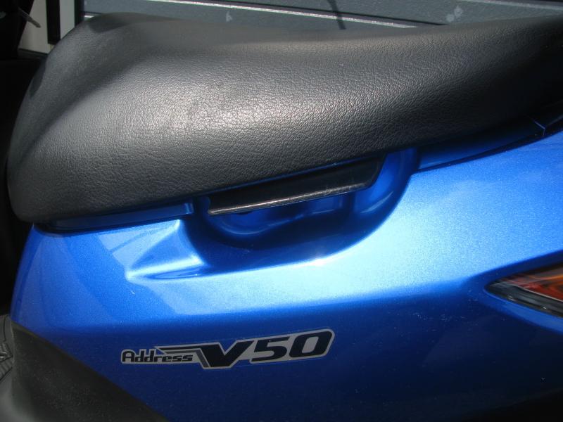 中古車バイク スズキ アドレスV50 ブルー スタンドグリップ