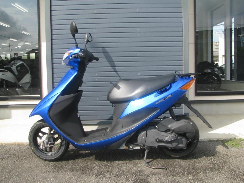 中古車バイク スズキ アドレスV50 ブルー ひだり側